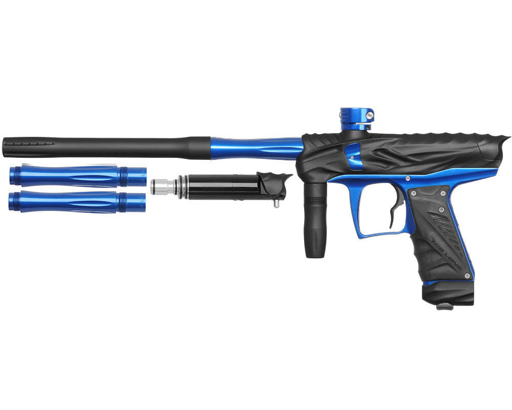 Bob Long Reptile VIS Paintball Gun - Dust Black/Blue