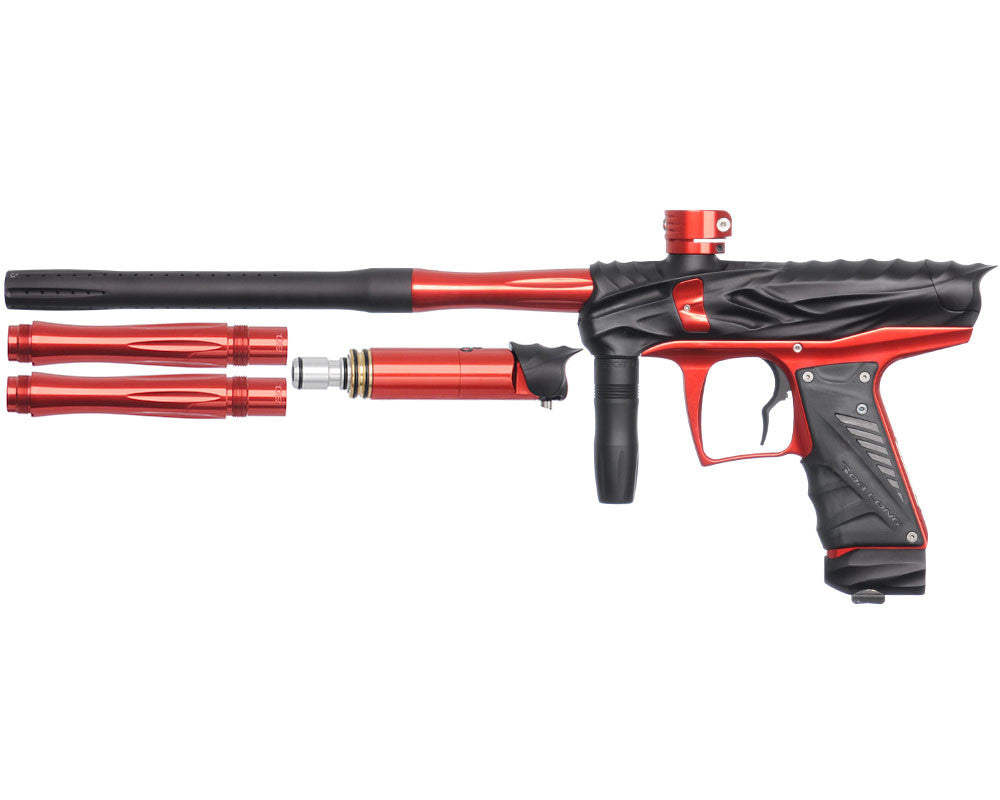 Bob Long Reptile VIS Paintball Gun - Dust Black/Red