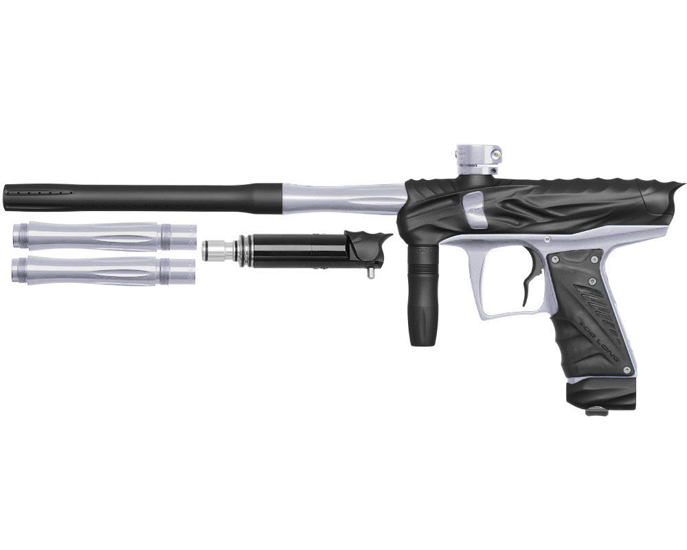 Bob Long Reptile VIS Paintball Gun - Dust Black/Silver