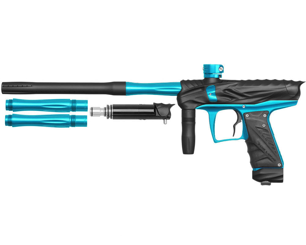 Bob Long Reptile VIS Paintball Gun - Dust Black/Teal