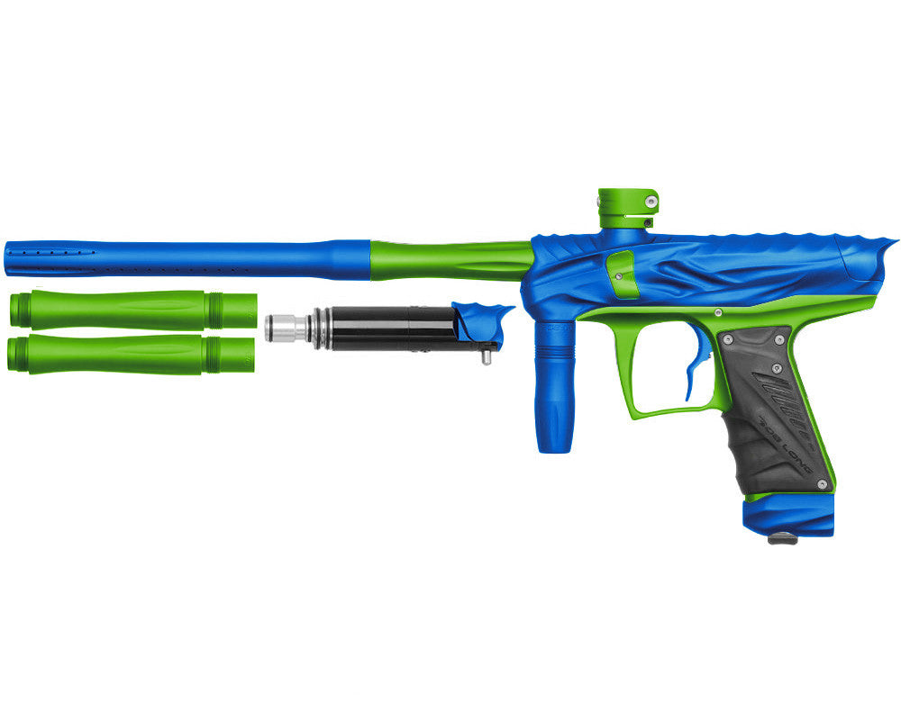 Bob Long Reptile VIS Paintball Gun - Dust Blue/Dust Lime