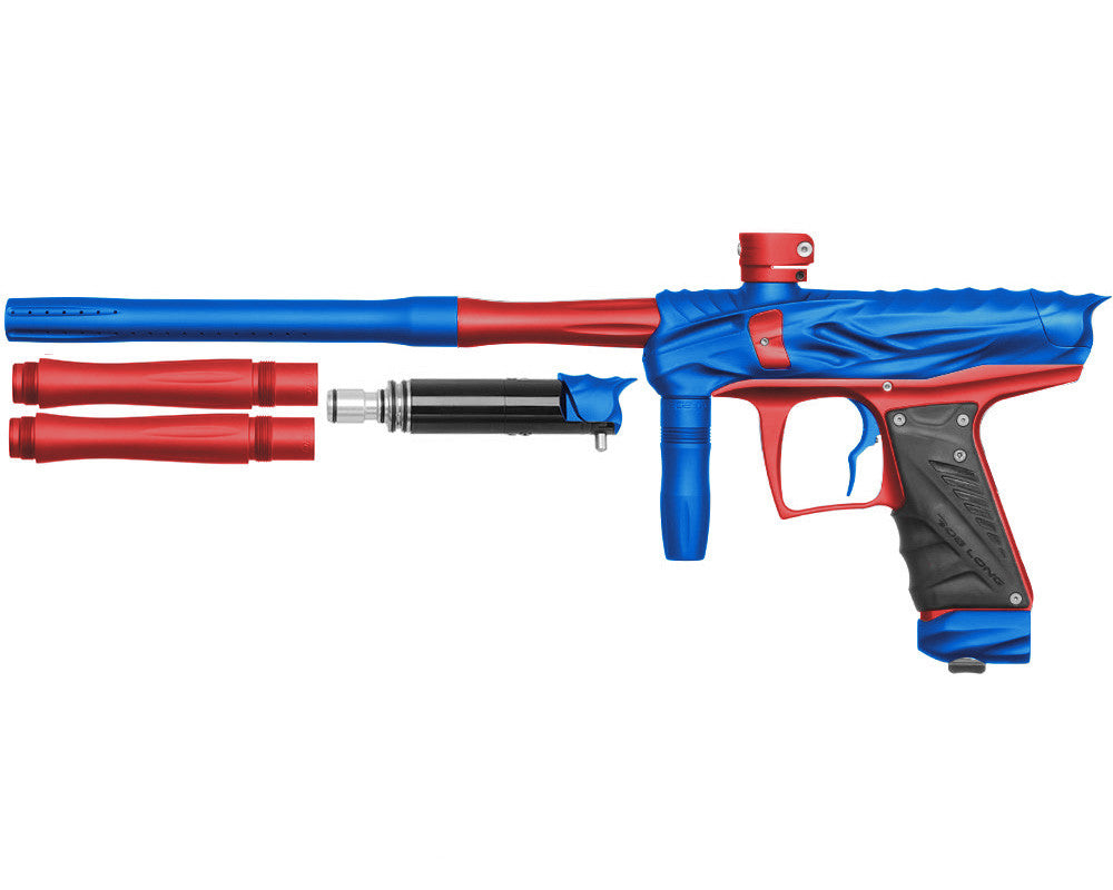 Bob Long Reptile VIS Paintball Gun - Dust Blue/Dust Red