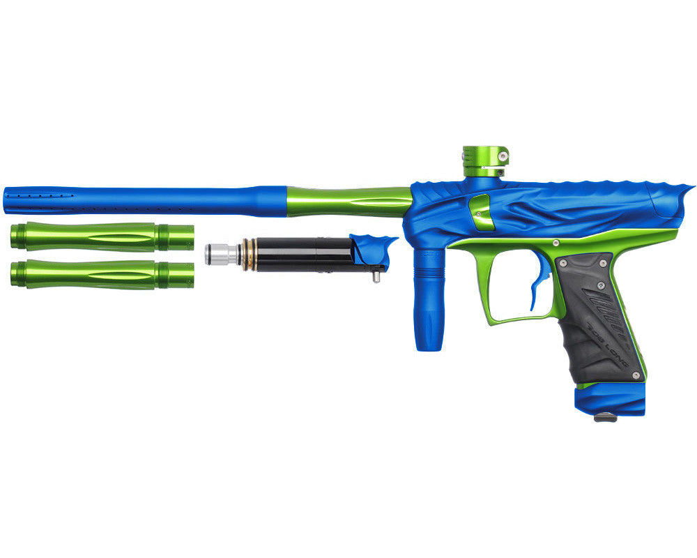 Bob Long Reptile VIS Paintball Gun - Dust Blue/Lime