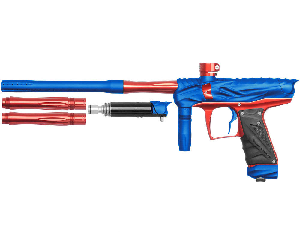 Bob Long Reptile VIS Paintball Gun - Dust Blue/Red