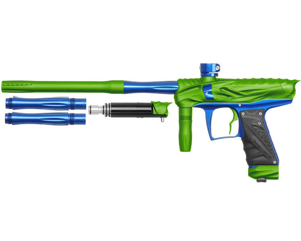 Bob Long Reptile VIS Paintball Gun - Dust Lime/Blue