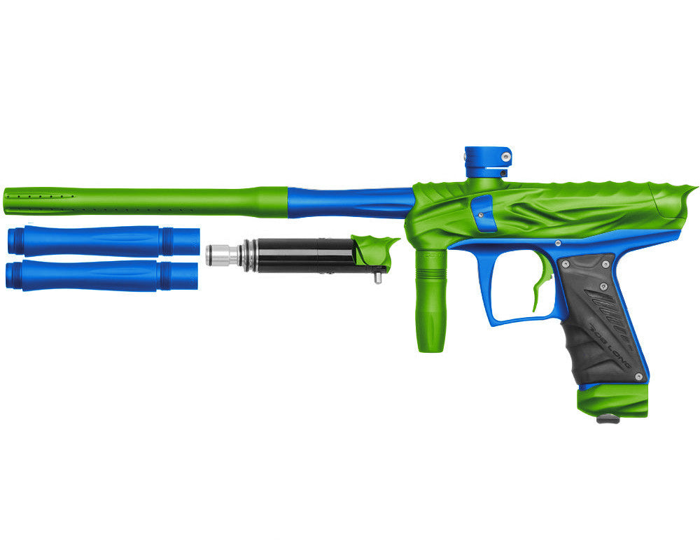 Bob Long Reptile VIS Paintball Gun - Dust Lime/Dust Blue