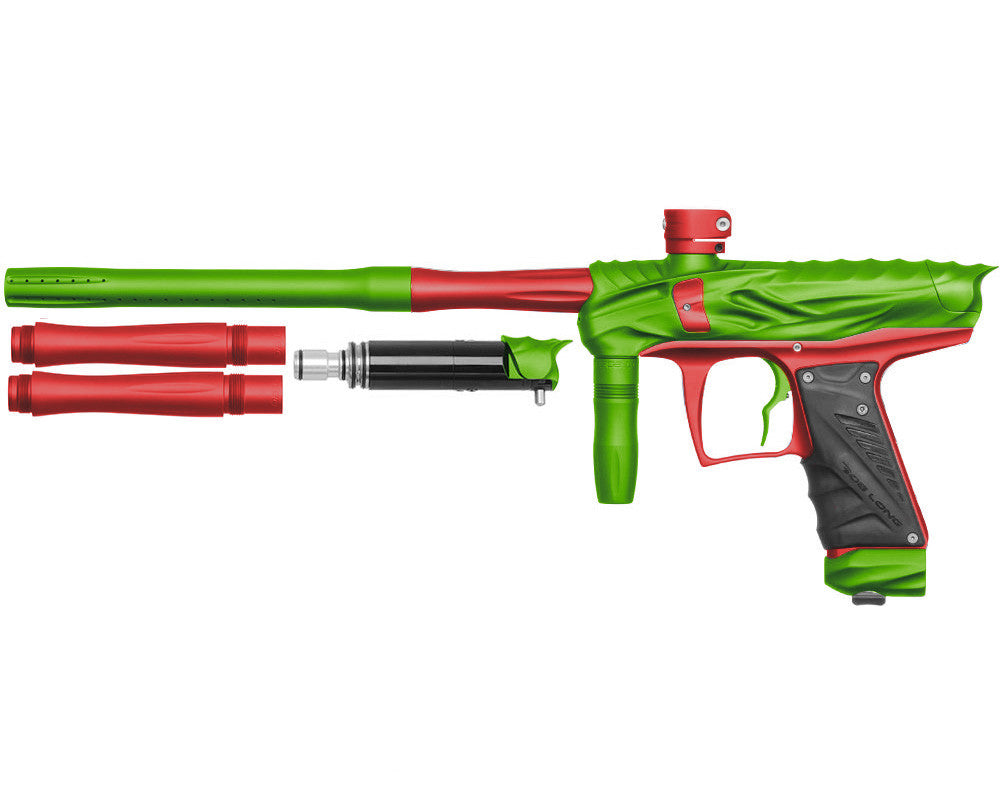 Bob Long Reptile VIS Paintball Gun - Dust Lime/Dust Red