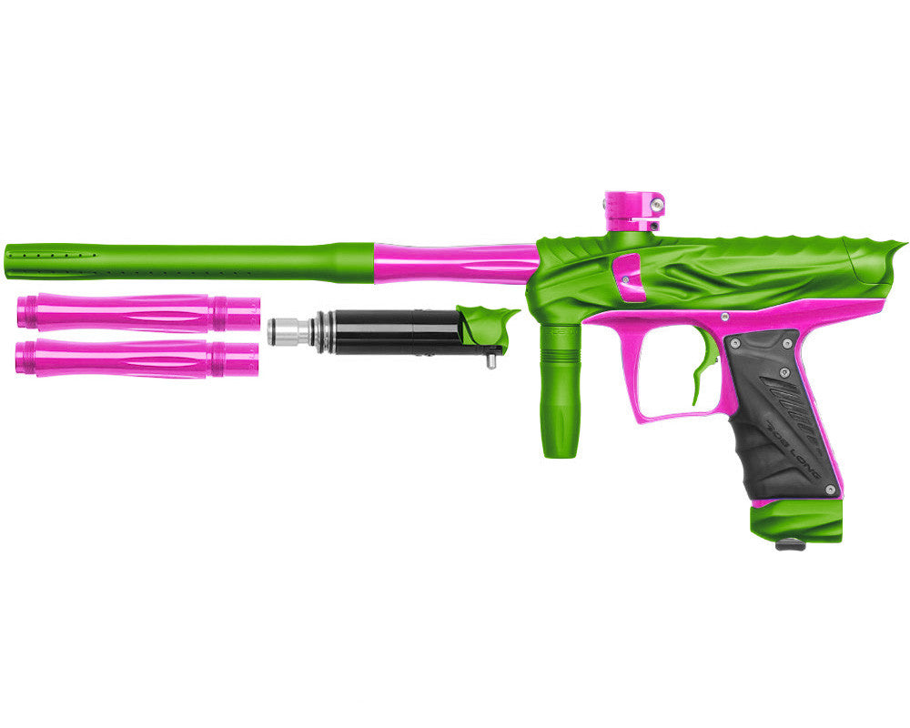 Bob Long Reptile VIS Paintball Gun - Dust Lime/Pink