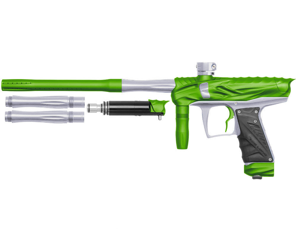 Bob Long Reptile VIS Paintball Gun - Dust Lime/Silver