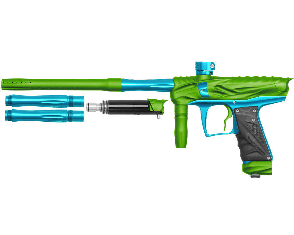 Bob Long Reptile VIS Paintball Gun - Dust Lime/Teal