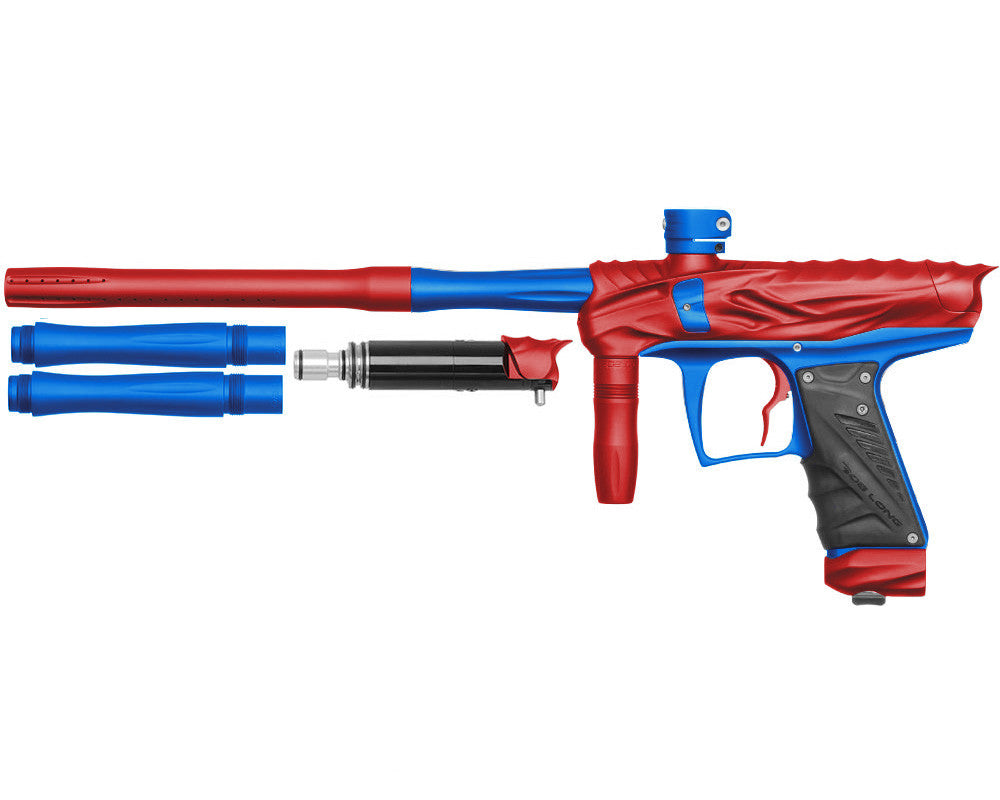 Bob Long Reptile VIS Paintball Gun - Dust Red/Dust Blue
