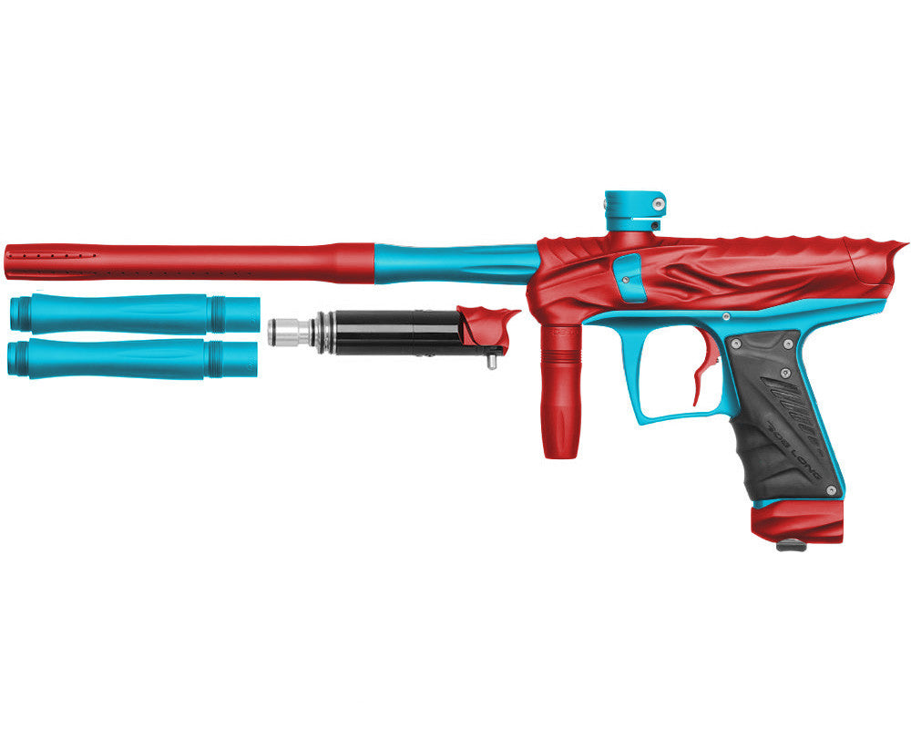 Bob Long Reptile VIS Paintball Gun - Dust Red/Dust Teal
