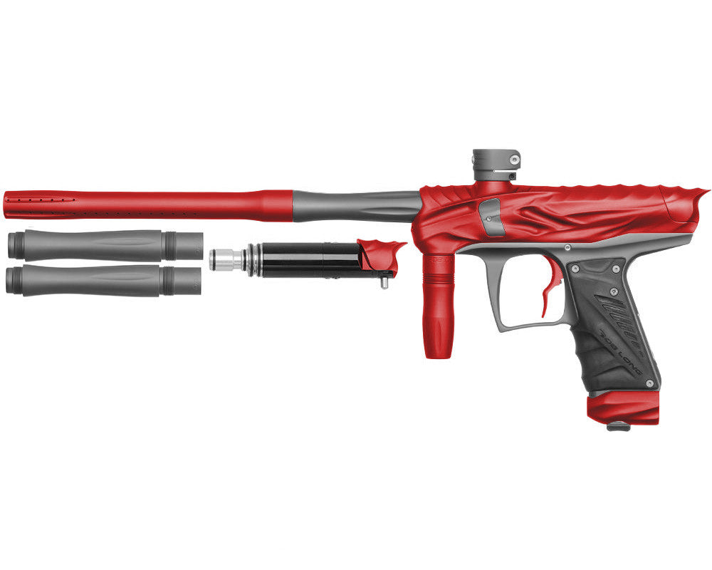 Bob Long Reptile VIS Paintball Gun - Dust Red/Dust Titanium
