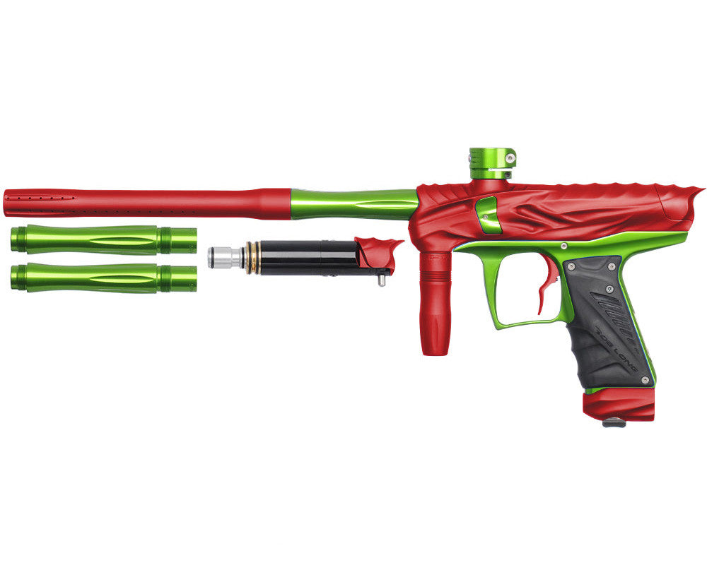 Bob Long Reptile VIS Paintball Gun - Dust Red/Lime