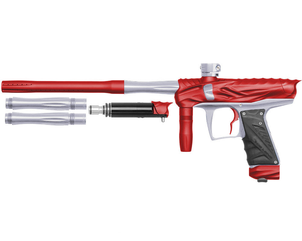 Bob Long Reptile VIS Paintball Gun - Dust Red/Silver