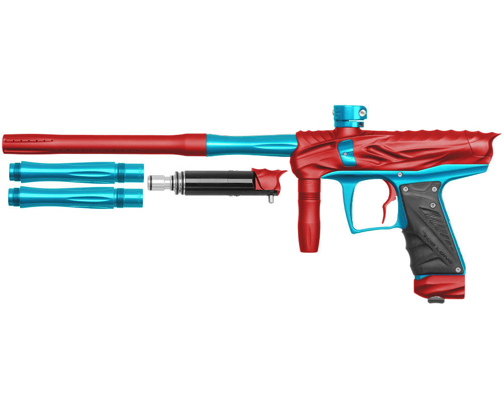 Bob Long Reptile VIS Paintball Gun - Dust Red/Teal