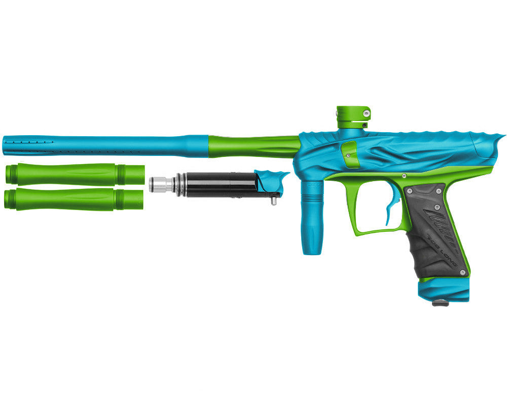 Bob Long Reptile VIS Paintball Gun - Dust Teal/Dust Lime