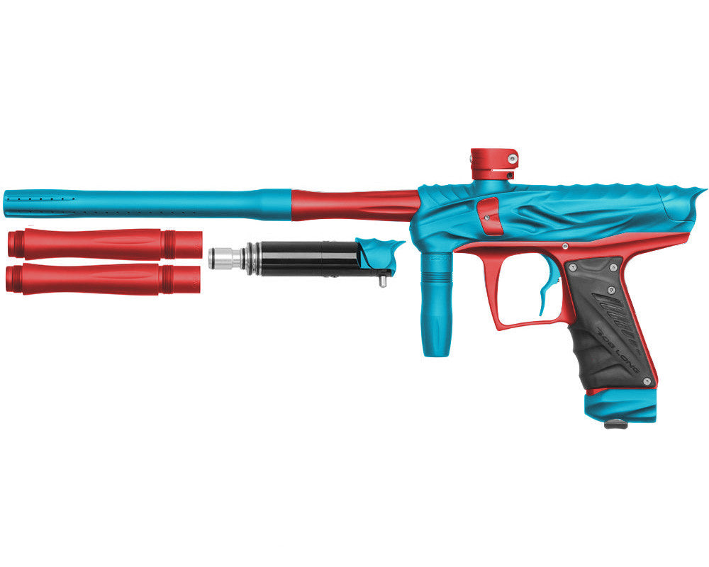 Bob Long Reptile VIS Paintball Gun - Dust Teal/Dust Red