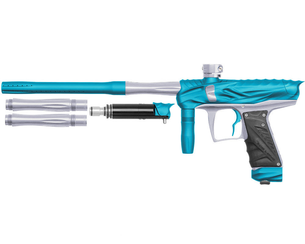 Bob Long Reptile VIS Paintball Gun - Dust Teal/Silver