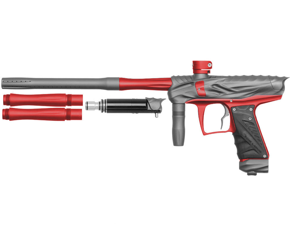 Bob Long Reptile VIS Paintball Gun - Dust Titanium/Dust Red