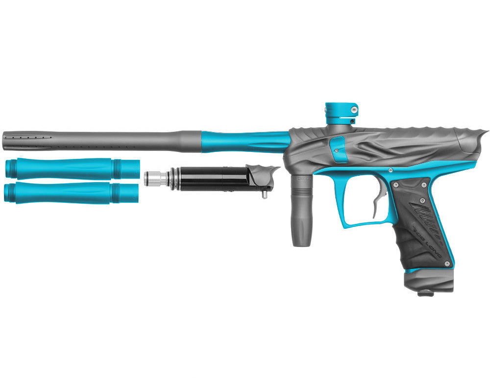 Bob Long Reptile VIS Paintball Gun - Dust Titanium/Dust Teal