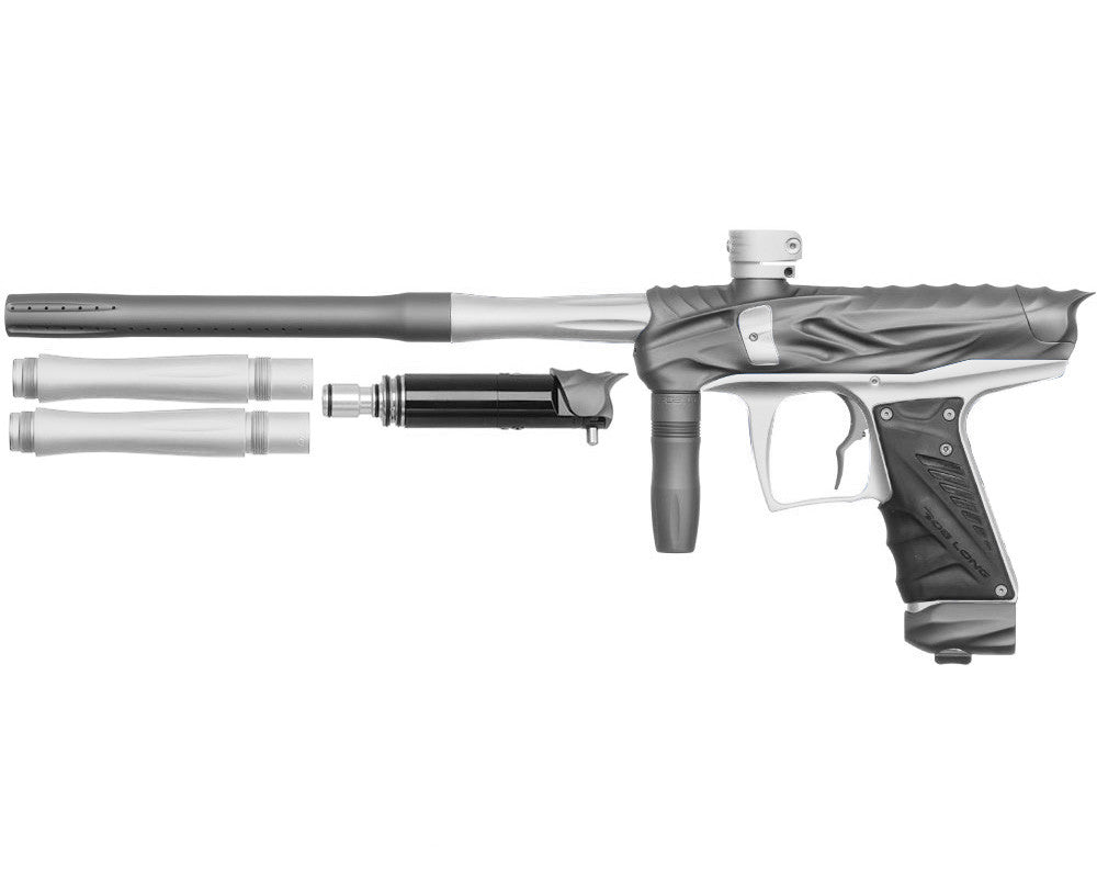 Bob Long Reptile VIS Paintball Gun - Dust Titanium/Dust White