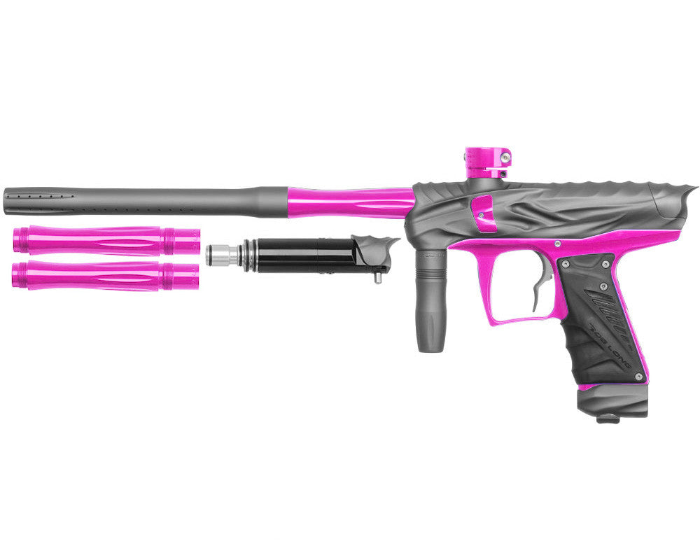 Bob Long Reptile VIS Paintball Gun - Dust Titanium/Pink