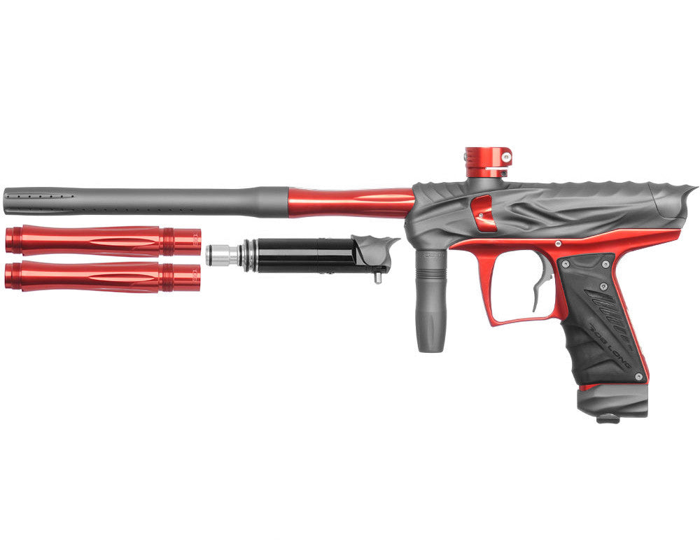 Bob Long Reptile VIS Paintball Gun - Dust Titanium/Red