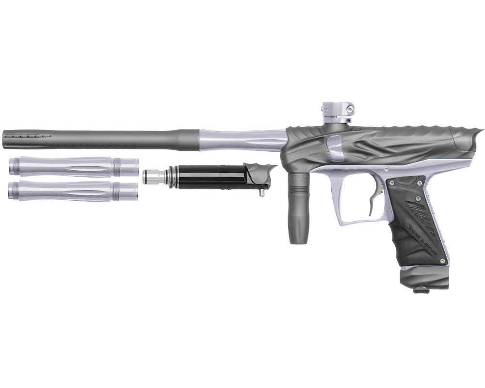 Bob Long Reptile VIS Paintball Gun - Dust Titanium/Silver