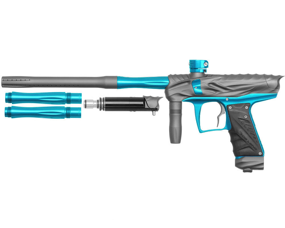 Bob Long Reptile VIS Paintball Gun - Dust Titanium/Teal