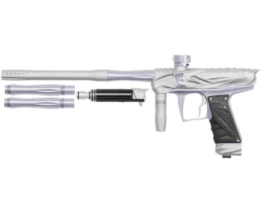 Bob Long Reptile VIS Paintball Gun - Dust White/Silver