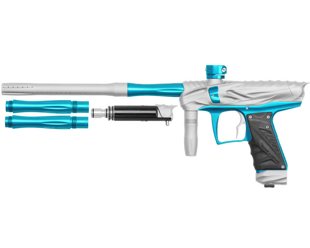 Bob Long Reptile VIS Paintball Gun - Dust White/Teal