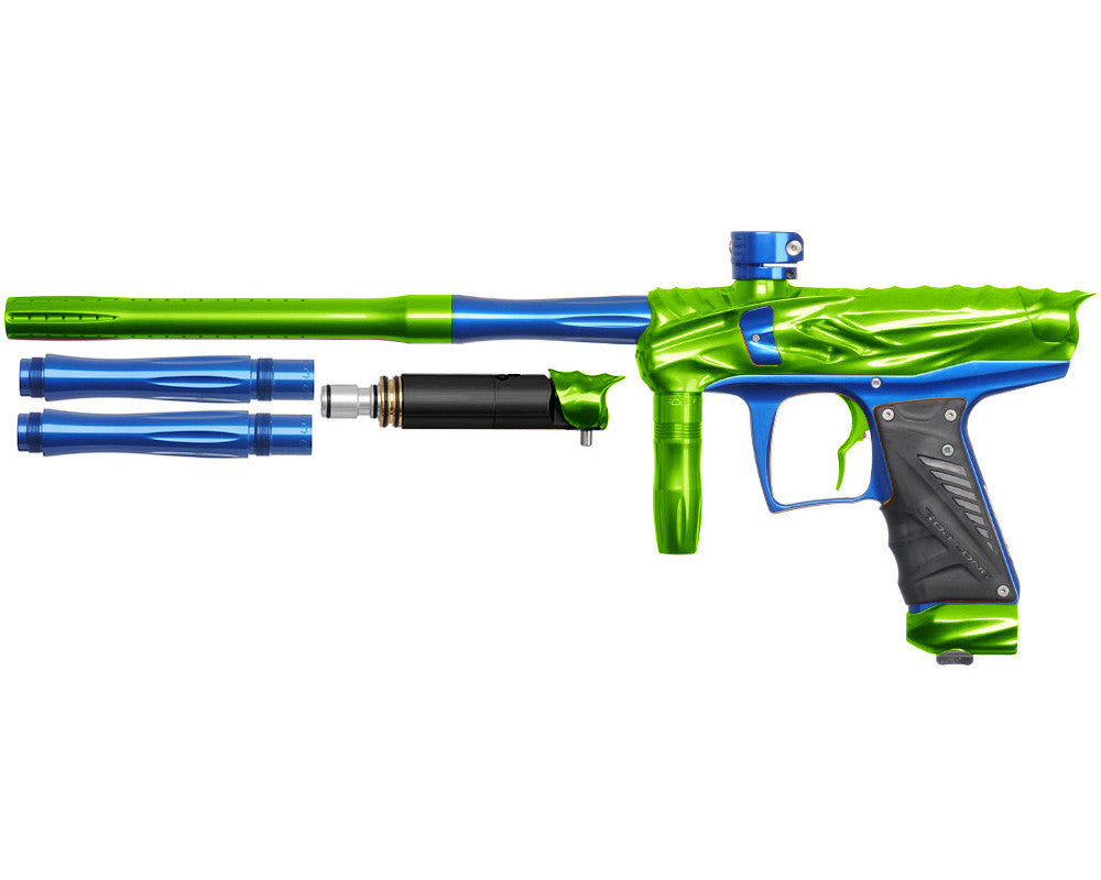 Bob Long Reptile VIS Paintball Gun - Lime/Blue