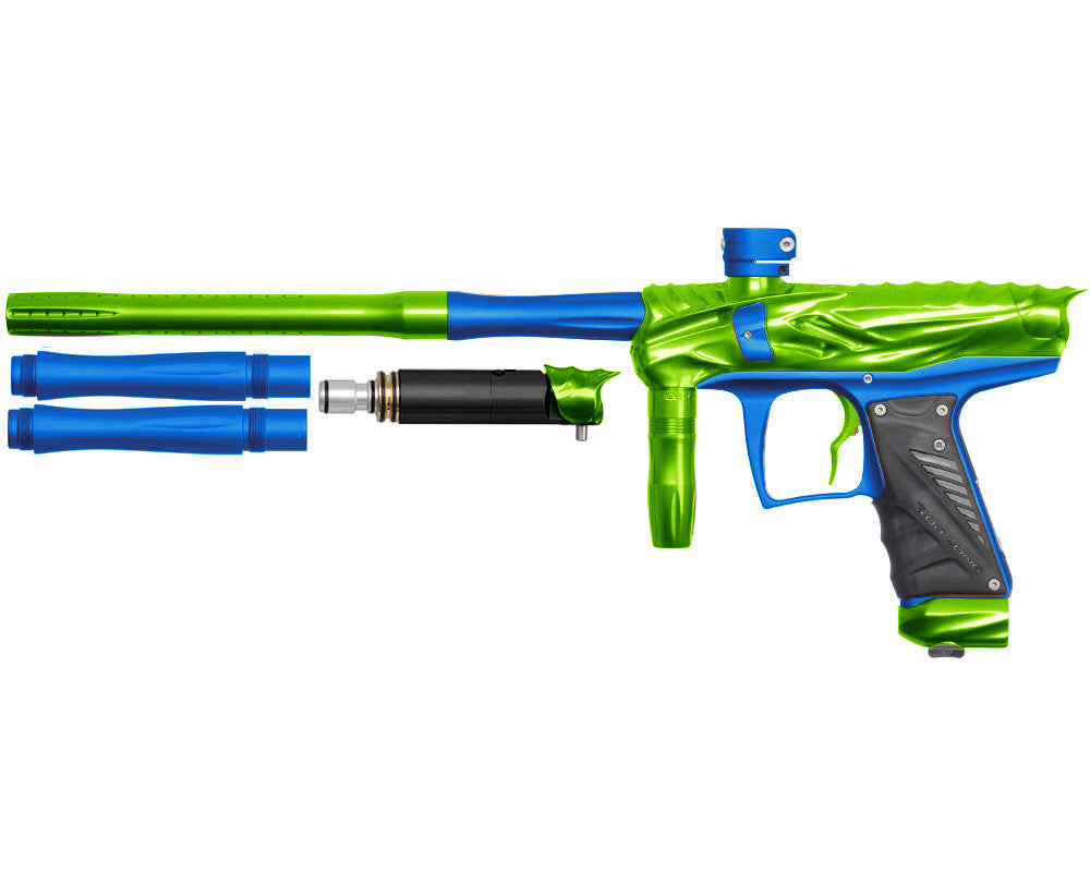 Bob Long Reptile VIS Paintball Gun - Lime/Dust Blue