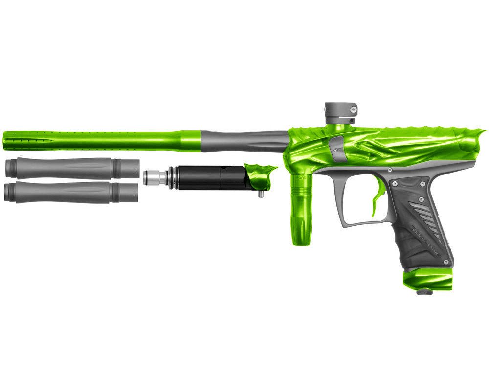 Bob Long Reptile VIS Paintball Gun - Lime/Dust Titanium