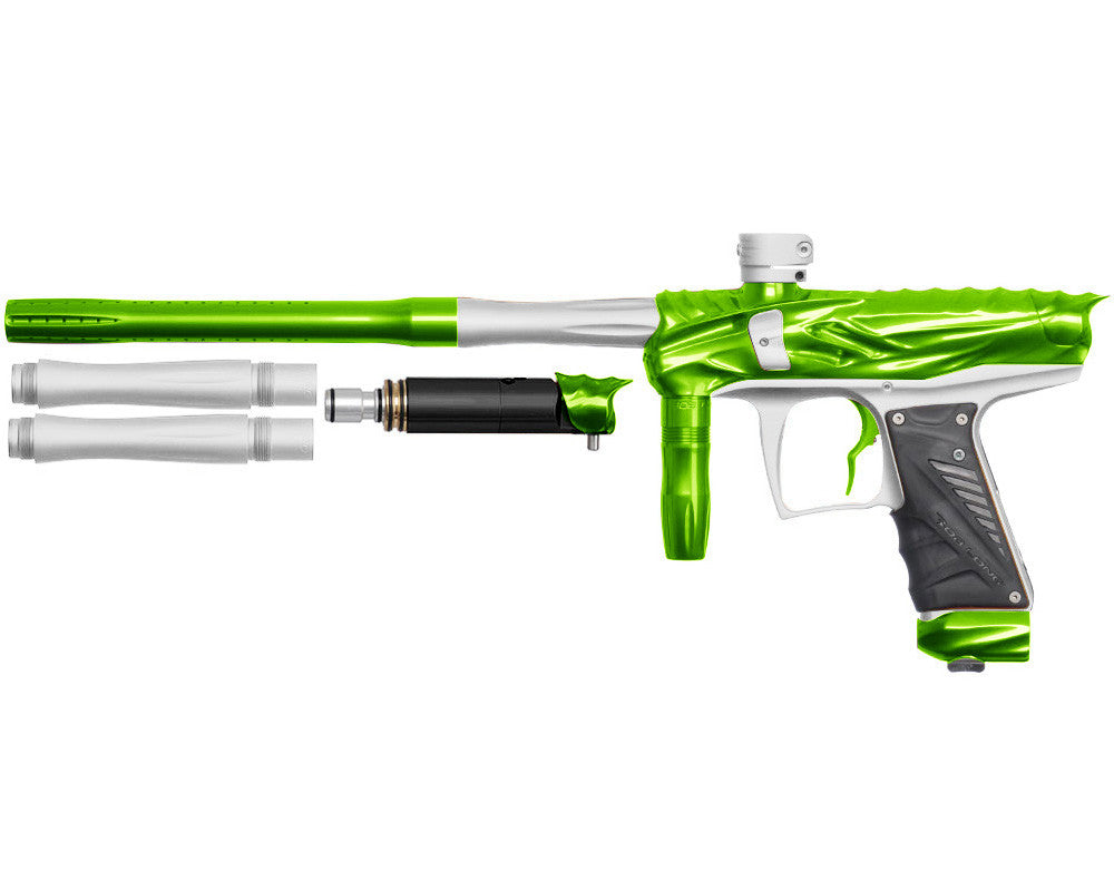 Bob Long Reptile VIS Paintball Gun - Lime/Dust White