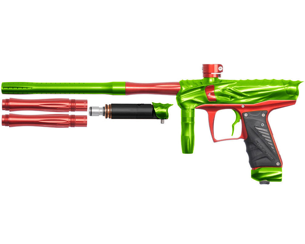 Bob Long Reptile VIS Paintball Gun - Lime/Red