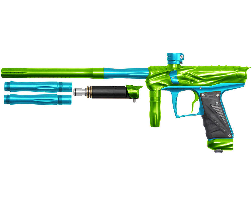 Bob Long Reptile VIS Paintball Gun - Lime/Teal