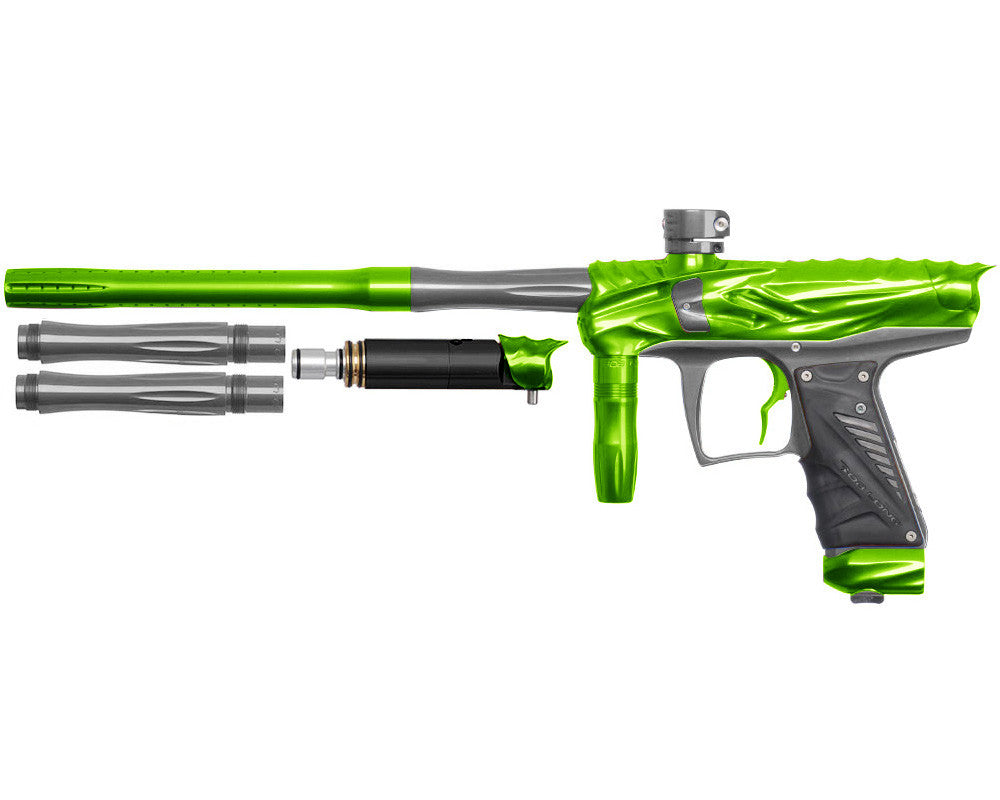 Bob Long Reptile VIS Paintball Gun - Lime/Titanium