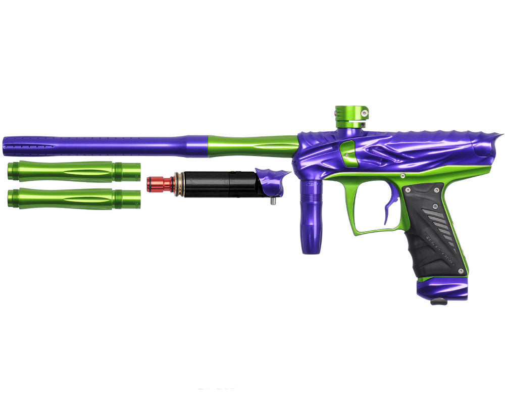 Bob Long Reptile VIS Paintball Gun - Purple/Lime