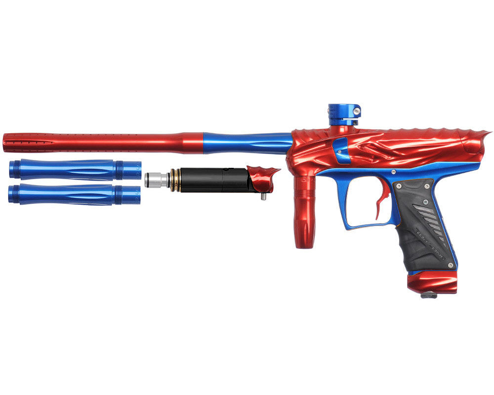 Bob Long Reptile VIS Paintball Gun - Red/Blue