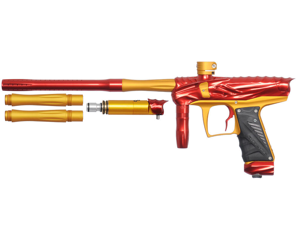 Bob Long Reptile VIS Paintball Gun - Red/Dust Gold