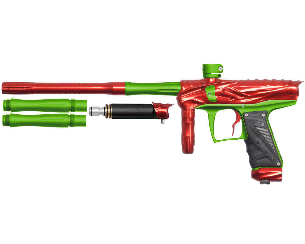 Bob Long Reptile VIS Paintball Gun - Red/Dust Lime