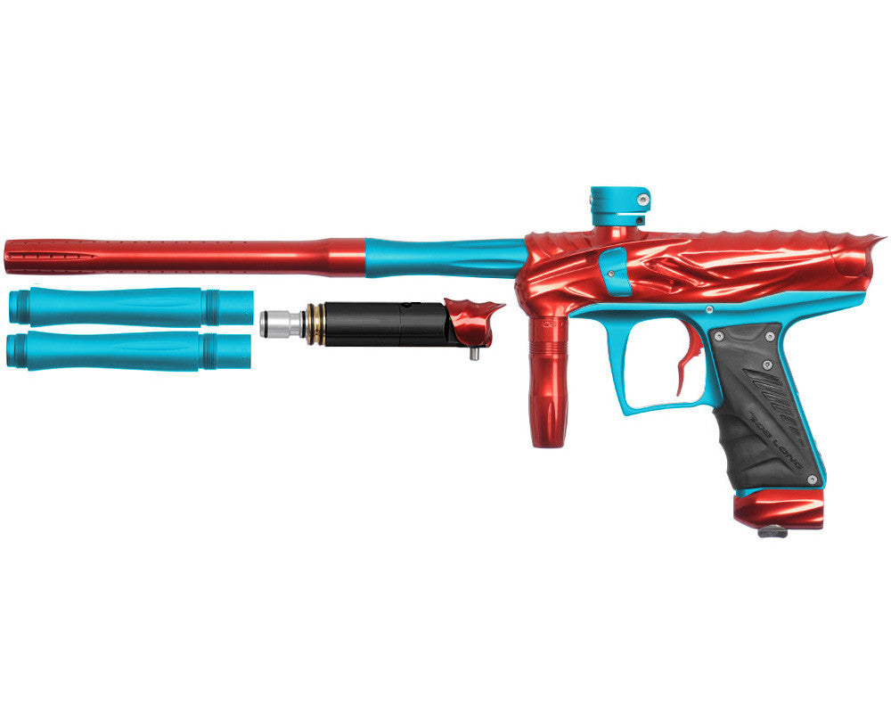 Bob Long Reptile VIS Paintball Gun - Red/Dust Teal