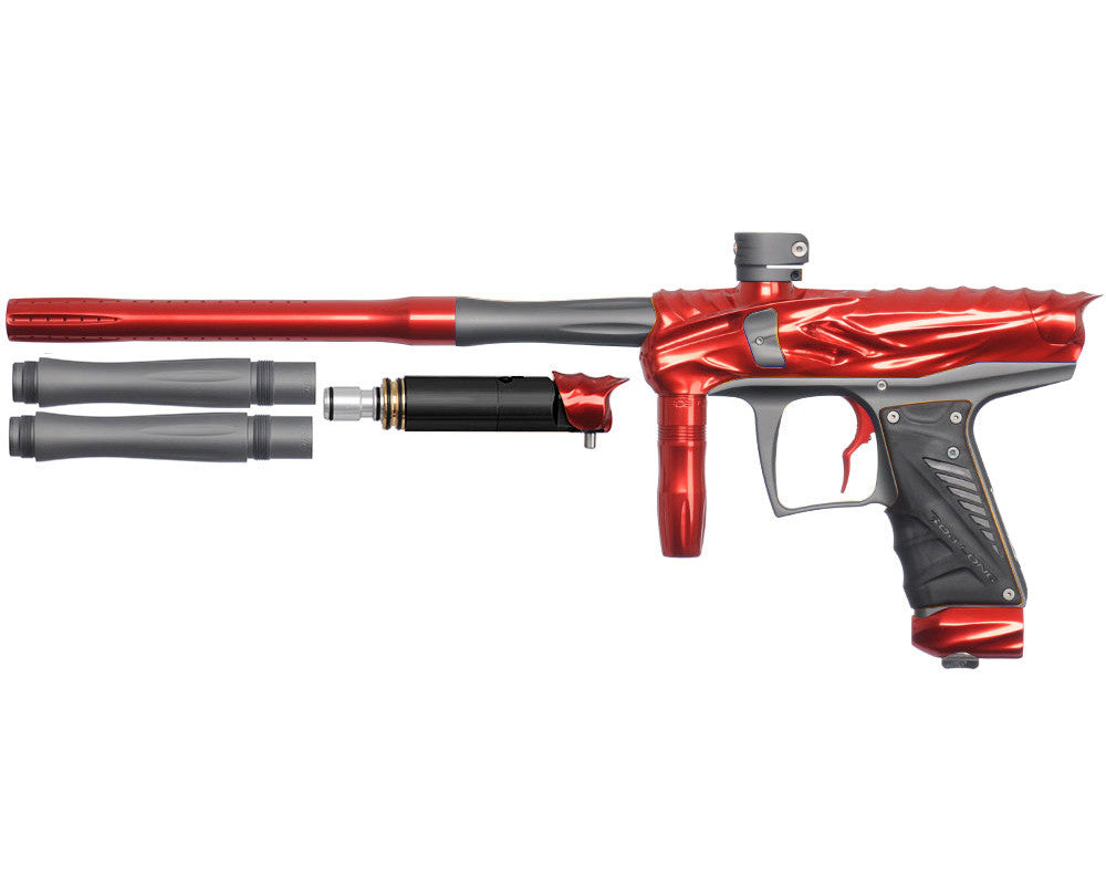 Bob Long Reptile VIS Paintball Gun - Red/Dust Titanium
