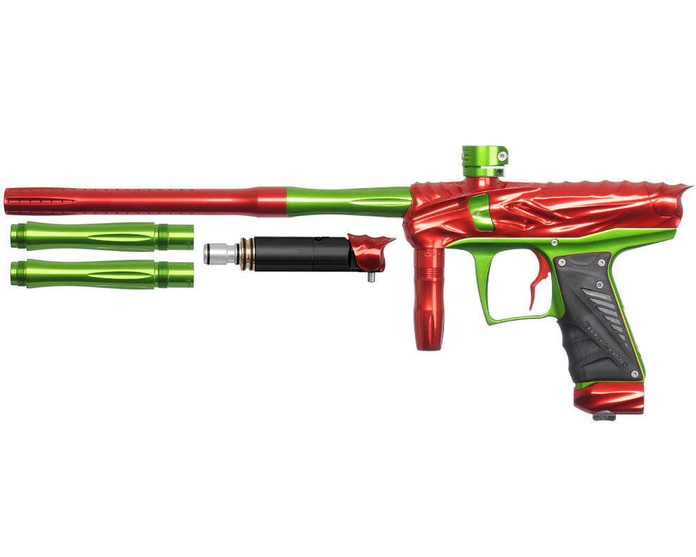 Bob Long Reptile VIS Paintball Gun - Red/Lime