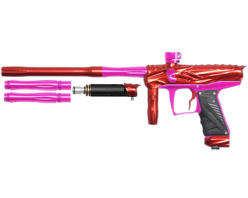 Bob Long Reptile VIS Paintball Gun - Red/Pink