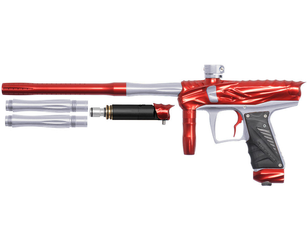 Bob Long Reptile VIS Paintball Gun - Red/Silver