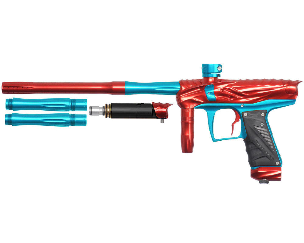 Bob Long Reptile VIS Paintball Gun - Red/Teal