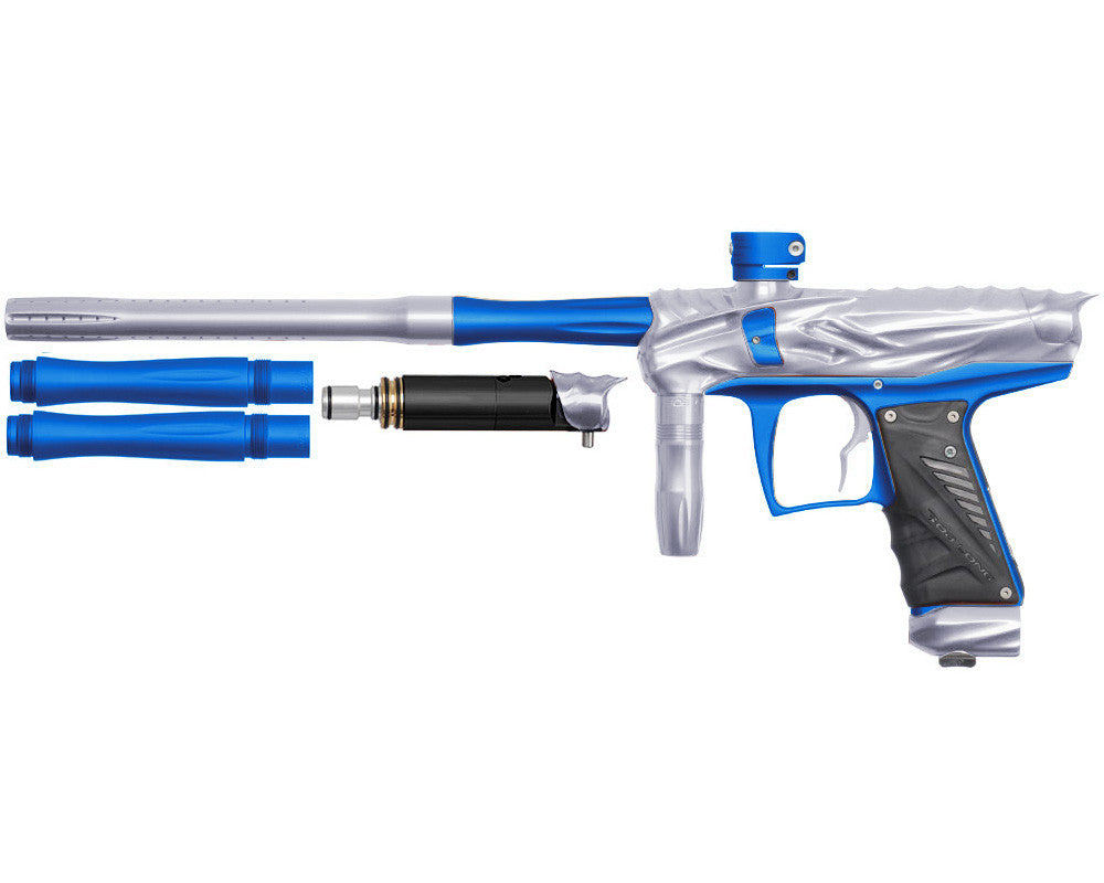Bob Long Reptile VIS Paintball Gun - Silver/Dust Blue
